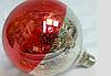 Дизайнерская Led Лампа  G125-8S8W  E27  Half Red Silver