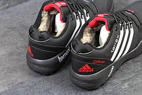 Кроссовки зимние Adidas Terrex черные с белым,на меху 46р, фото 3