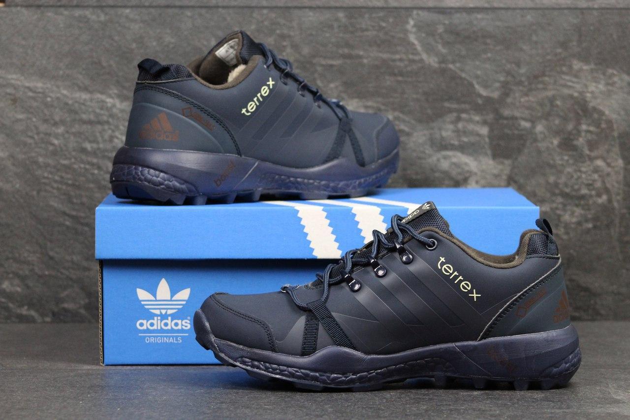 Кроссовки зимние AdidasTerrex синие,на меху 45р