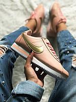 Женские Nike Cortez oxford Pink  / реплика ТОП (1:1 к оригиналу)