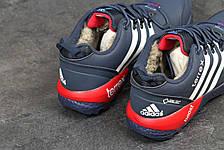 Кроссовки зимние AdidasTerrex синие с белым,на меху 45р, фото 3