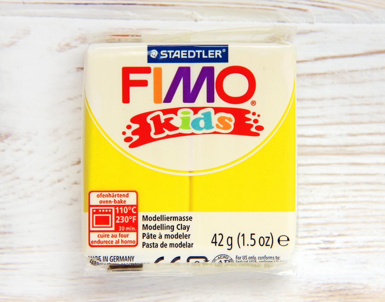 Фимо Кидс полимерная глина Fimo Kids 1, желтый. Германия.