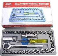 Набор инструментов с трещоткой 40 предметов в кейсе