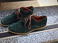 Замшевые женские туфли Classic Luxury зеленые