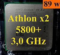 Процессор (б\у) AMD Athlon 64 X2 5800+,  3,0ГГц, Tray (ADA5800IAA5DO)  5600+ 6000+ 5400+