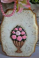 Пряник имбирно-медовый - ваза с цветами, фото 1