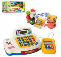 Детский кассовый аппарат 7020 (касса, сканер, продукты, игр деньги)