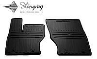 Резиновые коврики Stingray Стингрей LAND ROVER RANGE ROVER Sport II 2013- Комплект из 2-х ковриков Черный в салон