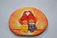 Пряник имбирно-медовый - два ангелочка, фото 1