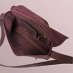 Кожаная сумка VS133  burgundy 26х22х4 см, фото 4