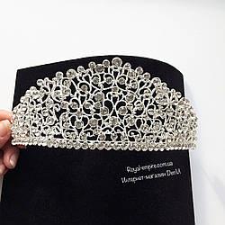 """Шикарная и большая диадема - корона """"Ажур"""" для невесты."""