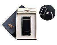 Зажигалка электроимпульсная Jobon Black две молнии c счетчиком использования