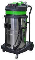 Профессиональный пылеводосос 2-х турбинный 70л. для сухой и влажной уборки (с запасной фильтр-корзиной)