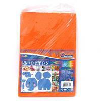 Фетр жесткий ярко-оранжевый 170г/м2 1,2мм 10листов A4