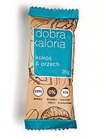 Натуральный батончик, кокос и орех, Dobra Kaloria, 35 г