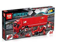 Конструктор Lepin 21010 F14 и грузовик Феррари Scuderia (аналог Lego Speed Champions 75913)