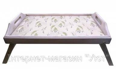 """Поднос в кровать """"Лаванда"""" фиолетовый, массив дерева (65х40х10 см)"""