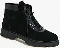 Ботинки женские стильные зима замша, женская обувь больших   размеров от производителя модель МИ5221