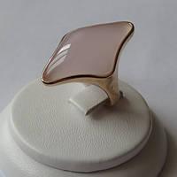Кольцо Ясмин ювелирная бижутерия золото 18к 750 проба розовый кварц