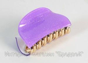 Заколка Краб Полукруг фиолетовая