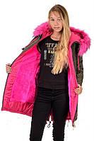 Модное зимнее пальто на девочку Игрушка размеры 38- 44 Новинка! Тренд сезона -цветной мех!
