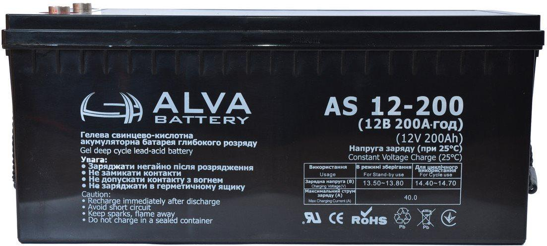Аккумулятор AGM - 200 Ач 12В - ALVA AD12-200