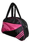 Сумка женская спортивная черная с розовыми вставками, фото 2