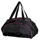 Сумка женская спортивная черная с розовыми вставками, фото 3