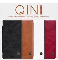 Кожаный чехол (книжка) Nillkin Qin Series для Sony Xperia X Performance