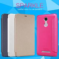 Кожаный чехол (книжка) Nillkin Sparkle Series для Xiaomi Redmi Note 3 / Redmi Note 3 Pro