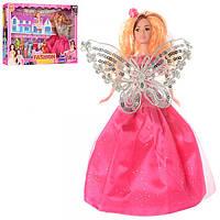Кукла с нарядом 2052-B6, кукла 28см, с дочкой 10см, домик 16-12-12см, платья 8шт, в кор-ке,52-35-7см