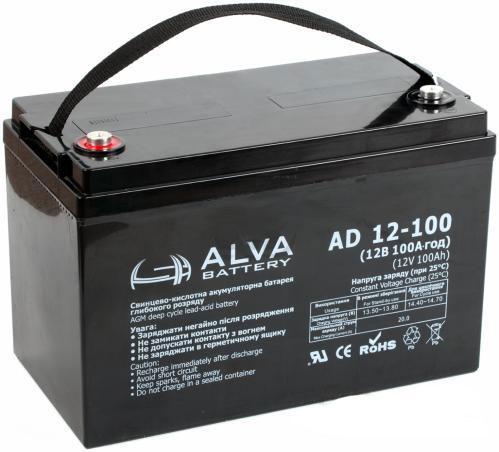 Аккумулятор AGM - 100 Ач 12В - ALVA AD12-100