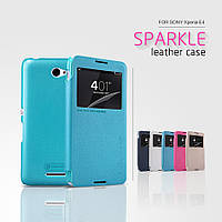 Кожаный чехол (книжка) Nillkin Sparkle Series для Sony Xperia E4