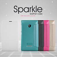 Кожаный чехол (книжка) Nillkin Sparkle Series для Microsoft Lumia 435 Dual Sim