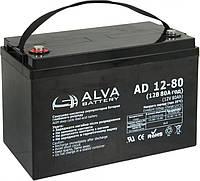 """Аккумулятор гелевый AGM (80Ач, 12В) """"ALVA AD12-80"""""""