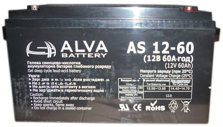 Аккумулятор AGM - 60 Ач 12В - ALVA AD12-60