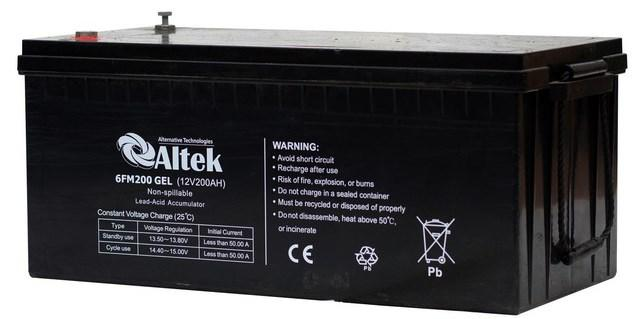 Аккумулятор гелевый Solar-GEL 200 Ач 12В Altek 6FM200GEL