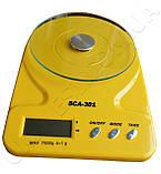 Ваги кухонні SCA-301 yellow, фото 3