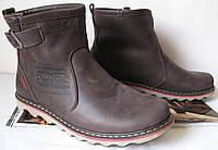 Levis! Женские, унисекс зимние кожаные Levi's Угги! Левис ботинки сапоги уги коричневые