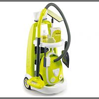 Игровой набор Smoby  тележка для уборки с пылесосом 330301
