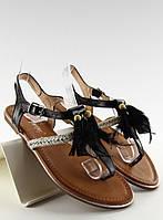 Черные женские сандалии Jernsta 40