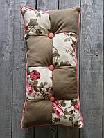 Подушка пэчворк с рисунком цветы