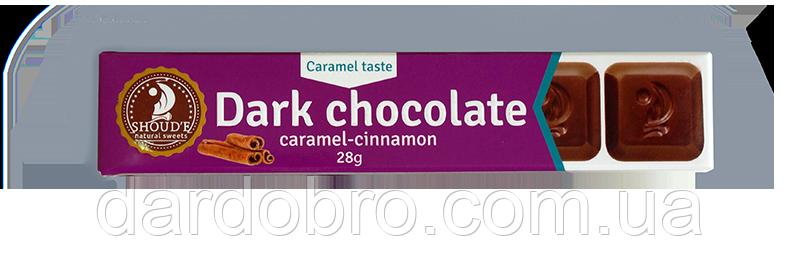 Шоколад чёрный  SHOUD'E Карамель-корица 28 гр