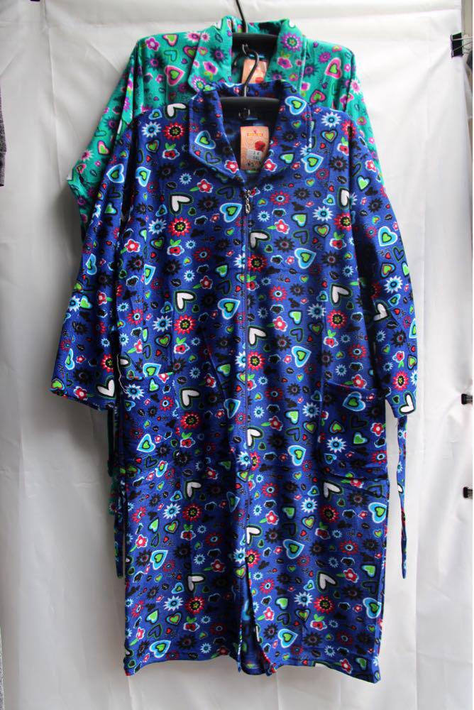 Женские велюровый халат S4
