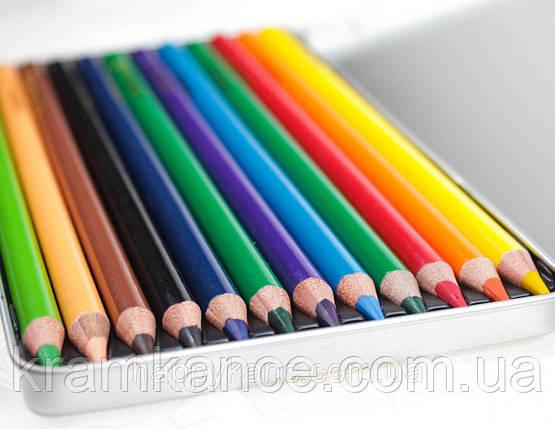 Карандаши цветные MARCO Raffine 3130-12TN 12цв. в метал., фото 2