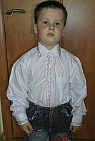 Рубашка школьная для мальчиков с машинной вышивкой