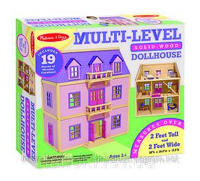 Домик для кукол Melissa&Doug Многоэтажный Деревянный домик, фото 3
