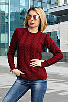 Женский, красивый, модный, молодежный, вязаный свитер , полушерсть в разных расцветках р- 42-48