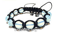 Женский браслет шамбала из лунного камня