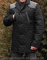 """Мужская куртка """" Ларго черный принт """""""